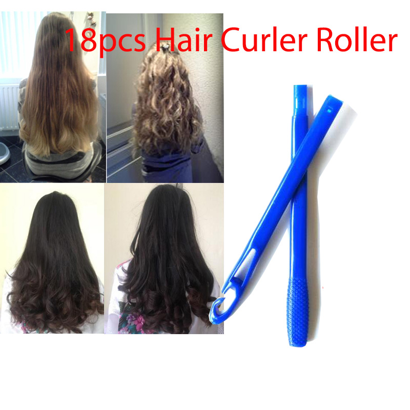 18pcs set 25cm long diameter 2 5cm easy use Magic hair curler magic hair roller spiral curls roller magic roller magic curler in Hair Rollers from Beauty Health