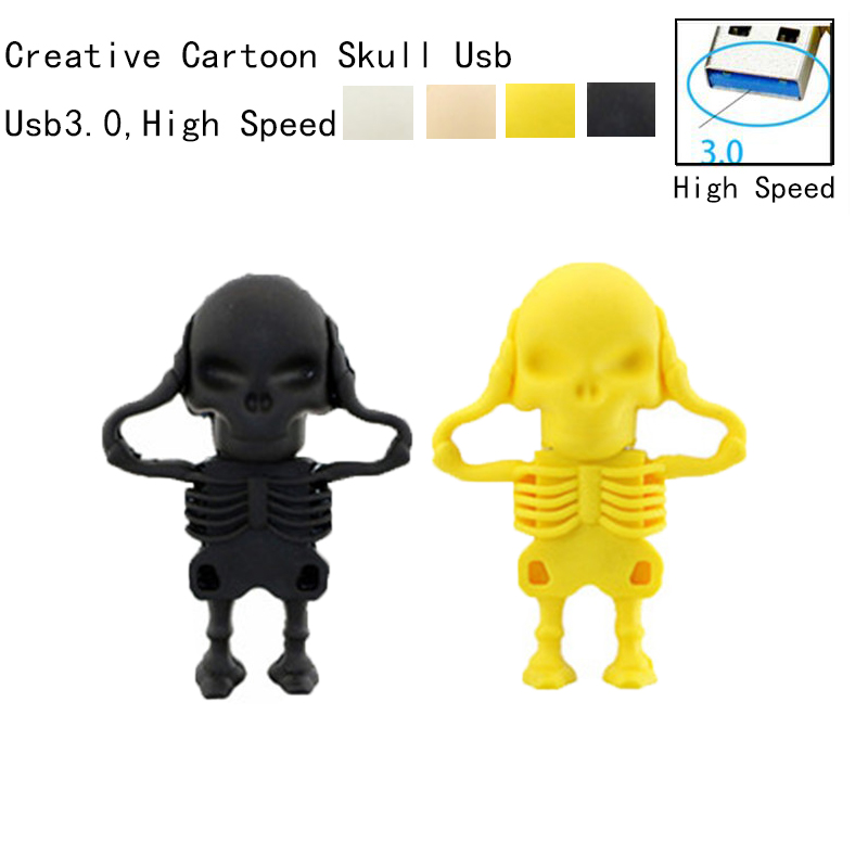 4GB Human Skeleton Usb Stick Cartoon Pendrive Creative Usb Flash Drive 128GB