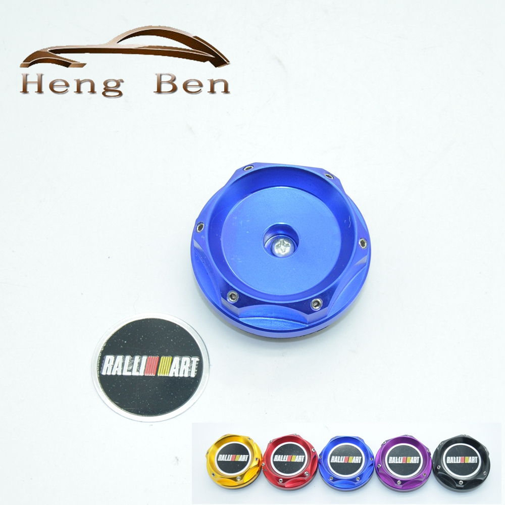 HB Ralliart Racing Engine Oil Cap Oil Fuel Filler Cover Cap For <font><b>Mitsubishi</b></font> image