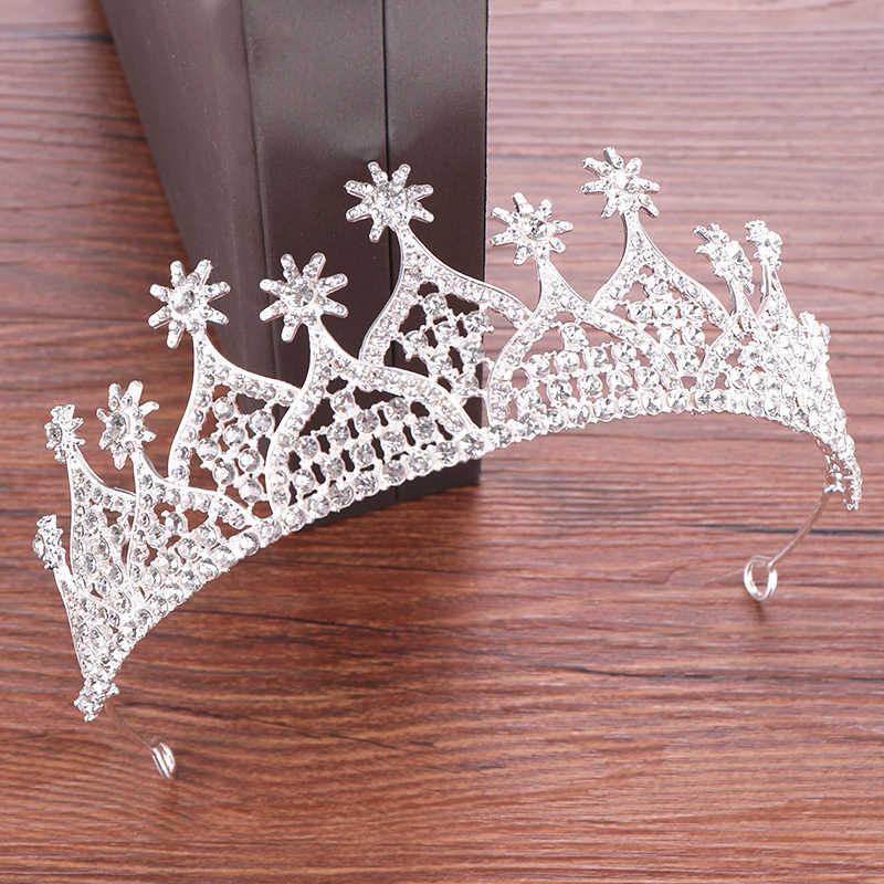 Cristal diadème couronne cheveux accessoires mariage diadème mariée couronne femmes tête pièce cheveux bijoux princesse couronne coiffure diadème