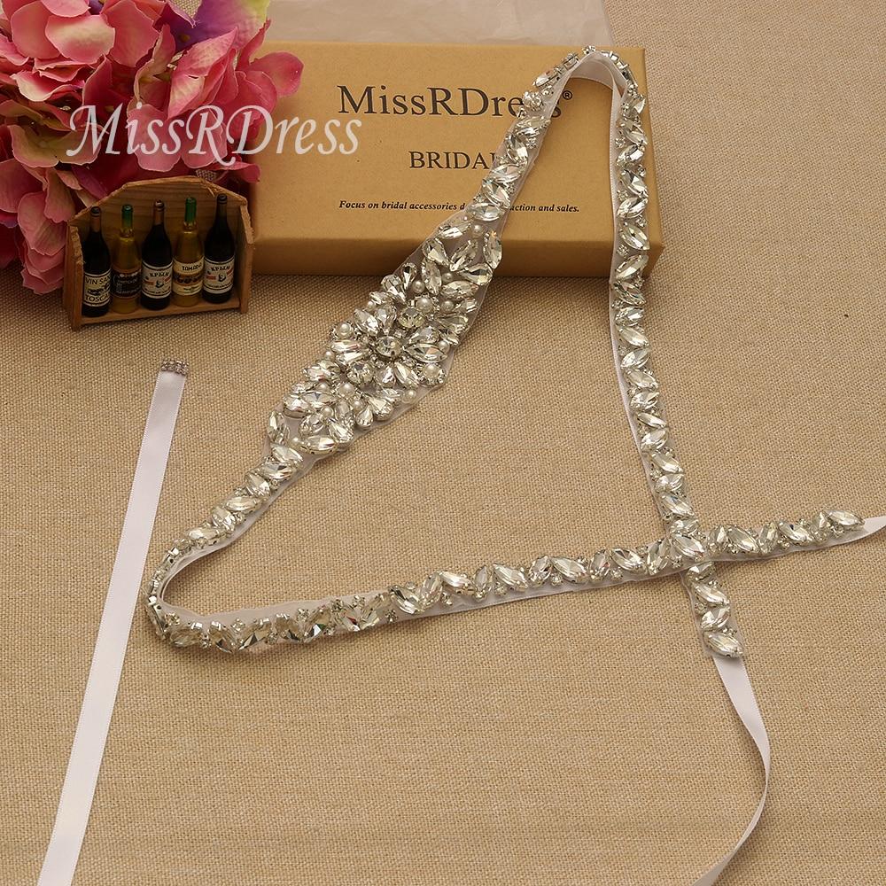 MissRDress حزام العرسان زهرة كامل طويل - إكسسوارات الزفاف