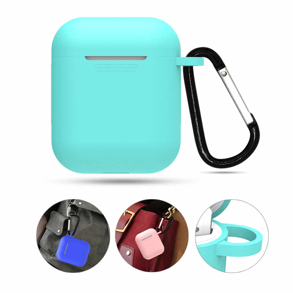 Mini funda de silicona suave para Apple Airpods funda a prueba de golpes para Apple AirPods funda protectora ultrafina J