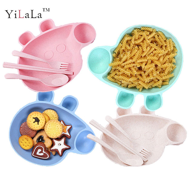 Yilala 4 pieces/Set Peppa Pig Dish Baby Cartoon Dinner Tableware Plastic Plates Bowl Spoon  sc 1 st  AliExpress.com & Yilala 4 pieces/Set Peppa Pig Dish Baby Cartoon Dinner Tableware ...