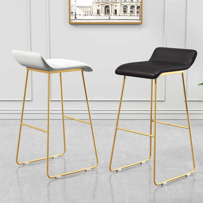 Pleasing New Nordic Bar Stools Cafe Lounge Stool Simple Bar Stool Designer Wrought Iron Gold High Chair Padded Bar Chair Camellatalisay Diy Chair Ideas Camellatalisaycom