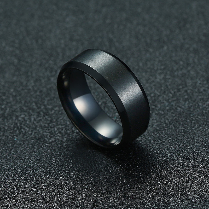 ZORCVENS 2020 New Fashion 8mm Classic Ring Male 316L Stainless Steel Jewelry Wedding Ring For Man 2