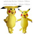 Pikachu Costume Pokemon Cosplay Inflatable Halloween Costumes for Kids Adults Outfit Men Women Blowup Mascots Fancy Dress Suit
