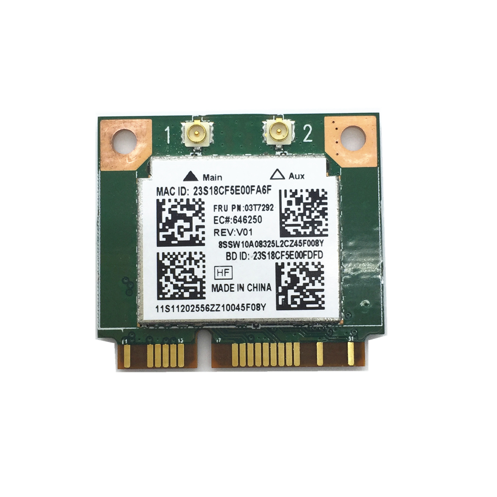 Free Shipping! Realtek RTL8192EEBT 03T7292 Wifi 300M + Bluetooth BT 4.0 Mini PCI-E Card
