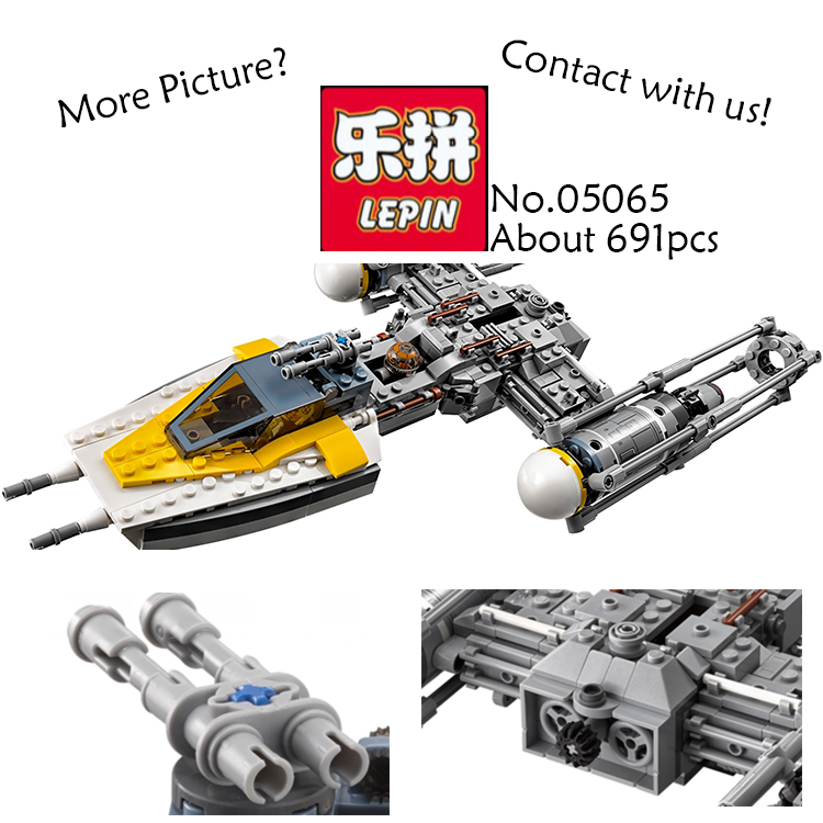 691PCS Lepin 05065 Y-wing Starfighter STAR WARS Rogue One Starwars Building Bricks Blocks Toys Compatible 75172 lepin 05040 star wars y wing attack starfighter model building kits blocks brick toys compatiable with lego kid gift set