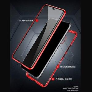 Image 2 - 360 קדמי + אחורי דו צדדי 9 H מזג זכוכית מקרה עבור Huawei Mate20 פרו מגנטי מקרה עבור Huawei mate 20 פרו מתכת פגוש כיסוי