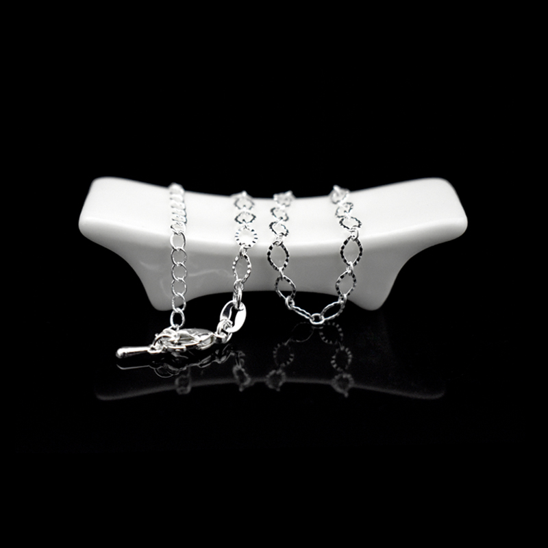 New Fashion Exquisite Small Egg Shaped Ankle Chains 925 Sterling Silver Simple Chain Anklets For Women Jewelry Anklet Bracelet 3