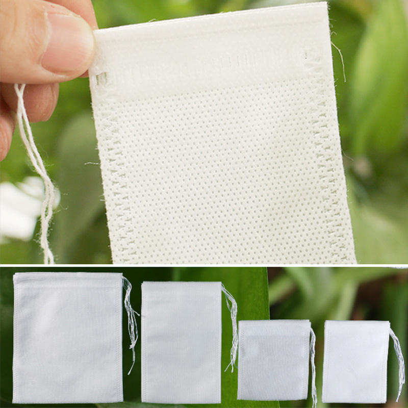 Cook Herb Spice Tools Disposable 7x9cm/8x10cm/10x15cm Tea Filter Bags Multifunction 100Pcs Drawstring Pouch Medcine Bag