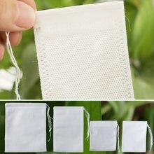 Cozinhar ervas spice ferramentas descartáveis 7x 9cm/8x1 0cm/10x15cm chá sacos de filtro multifunction 100 pces cordão bolsa medcine