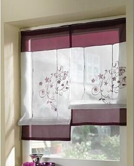 Acquista vendita caldo ricamato finestra tenda romano tende per soggiorno - Tende per finestra del bagno ...