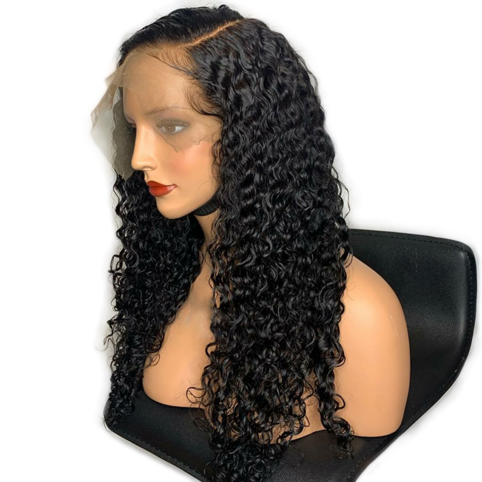 Malaysian Water Wave 360 Lace Frontal Wig Pre Plucked With Baby Hair 150 Density Remy Human