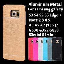 Luxo metal de alumínio da tampa do caso para samsung galaxy a3 a5 a7 2016 j1 ACE J5 J7 2015 S3 S4 S5 S6 S7 Borda Mais Telefone G530 casos
