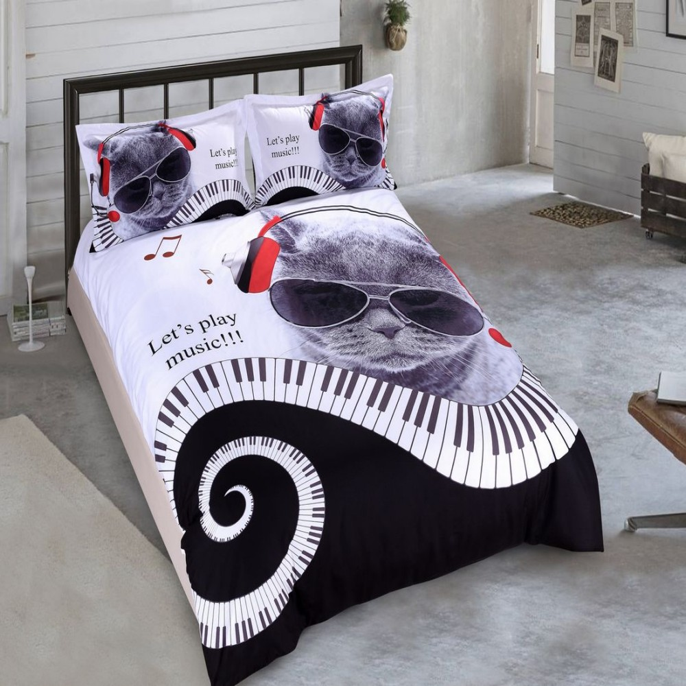 music themed bedding set music note gifts. Black Bedroom Furniture Sets. Home Design Ideas