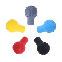 Car Auto Round Silicone Gear Shift Knob Cover Manual Automatic Non slip Lever Shifter Knobs Case Protector Collars