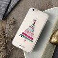 Новый Рождество Дерево Шкафы Для Samsung Galaxy S6 S7 Edge Для iPhone 7 плюс 6 6 S Плюс 5S SE 5 Тиснение Искусства Отпечатано Мягкие TPU Крышка