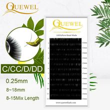 Quewel False Eyelashes Extension 12 Line/C/CC/D/DD Curl Russian Lashes Customizable Individual LM