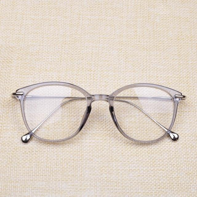 Vazrobe Transparentes Mulheres Óculos de moda quadro de grau prescrição  óptica lente com lente transparente liso 454fbb54c8