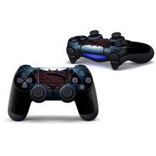 2 pcs Decalques de Vinil Com A Pele para PS4 Controlador Designer Pele para Sony PlayStation 4 DualShock Wireless Controller-batman