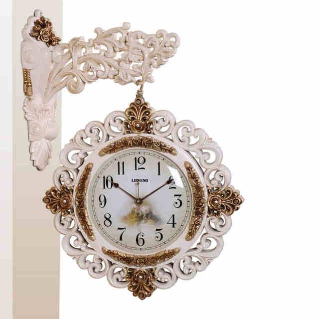wall clocks vintage double sided wall clock large watch reloj pared klok muur relogio wanduhr wandklok