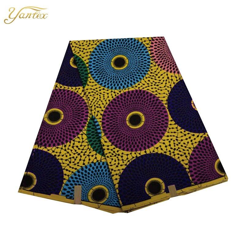 YANTEX African Real Wax Hollandais Dutch Wax Fabric 6Yards African Veritable Hollandais High Quality Ghana Real Wax Print Fabric