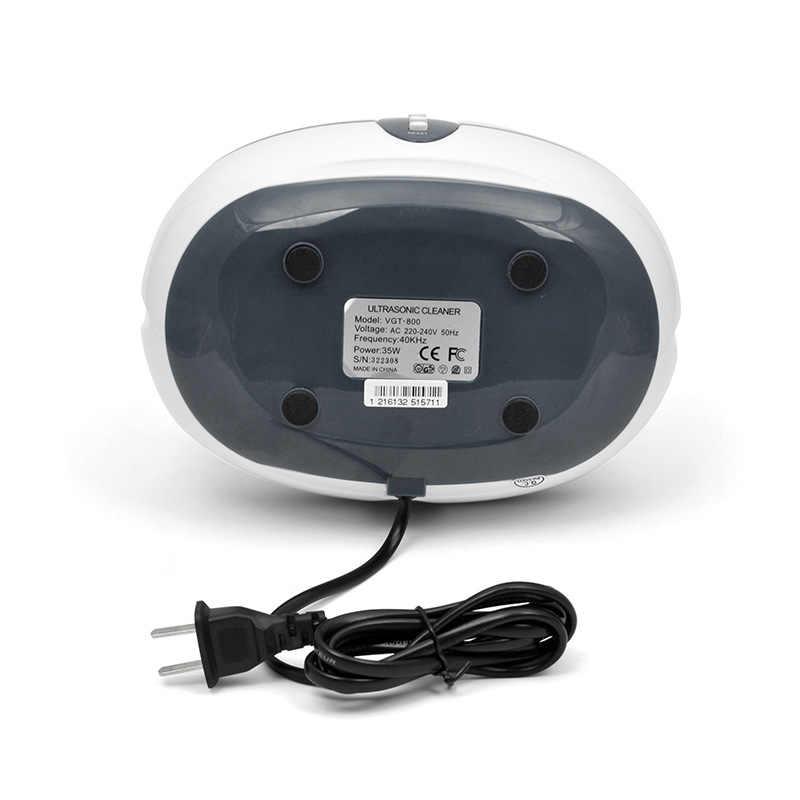 600Ml Ultrasonic Cleaner 35W Perhiasan Kacamata Menonton Pembersih Papan Sirkuit Mesin Cerdas Cleaning Bath Power Driver