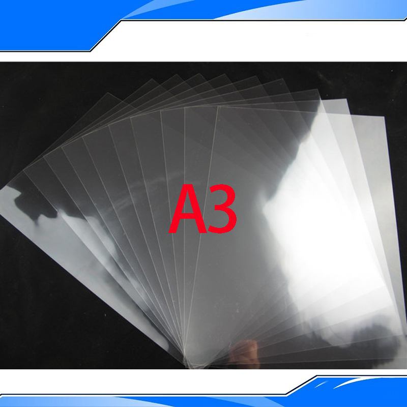 PET Inkjet&Laser Printing Transparency Film Waterproof Transparency Film Five Pieces A3 Size Screen Printing Transfer Film