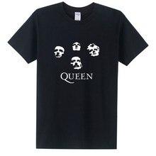 New Fashion Classic Rock Band Queen T Shirt Men Cool Printed T shirt 2016 Summer Short