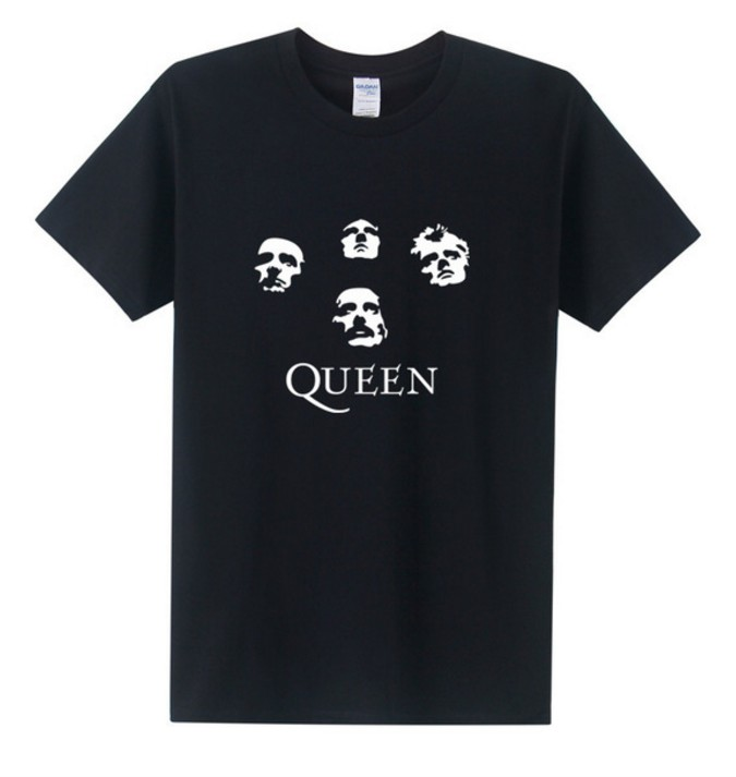 New Fashion Classic Rock Band Queen   T     Shirt   Men Cool Printed   T  -  shirt   2018 Summer Short Sleeve Cotton Heavy Rock Tops