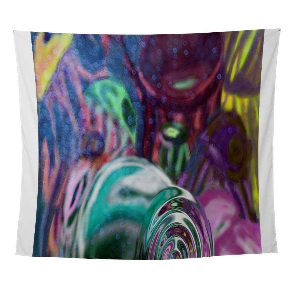 Jellyfish Abstract Bright Version Wall Tapestry Wall Hanging Beach Towel Polyester Blanket Yoga Shawl Mat  Blanket