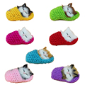 Mini Lovely Simulation sleeping cats plush stuffed toy in slipper 2016 New Cute Simulation animal cats doll plush figures toy