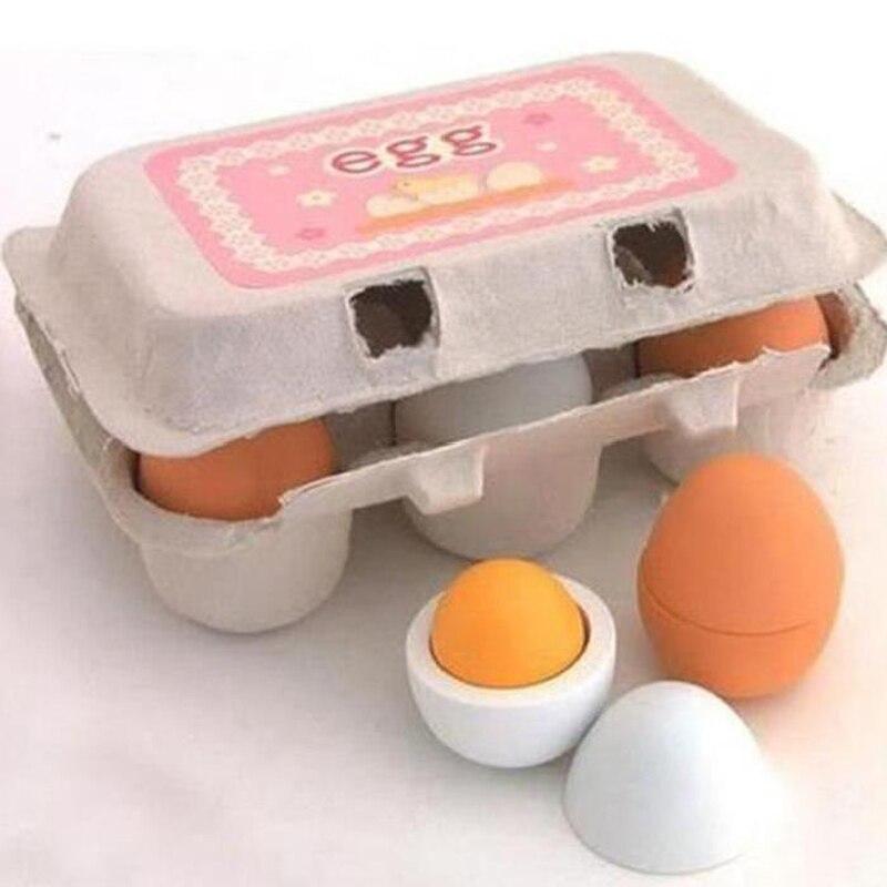 Новые поступления 6 шт. яйца желток Ролевые игры Кухня Еда Пособия по кулинарии детей Детские игрушки смешной подарок