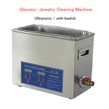6.5L Ultrasonic Cleaning Machine With Basket PS-30A Glasses/ Jewelry Cleaning Machine (Digital Display Time And Temperature)