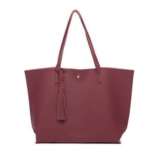 Image 3 - New autumn/winter bag fashion tassel womens bag European and American fashion womens handbag wave grain one shoulder bag