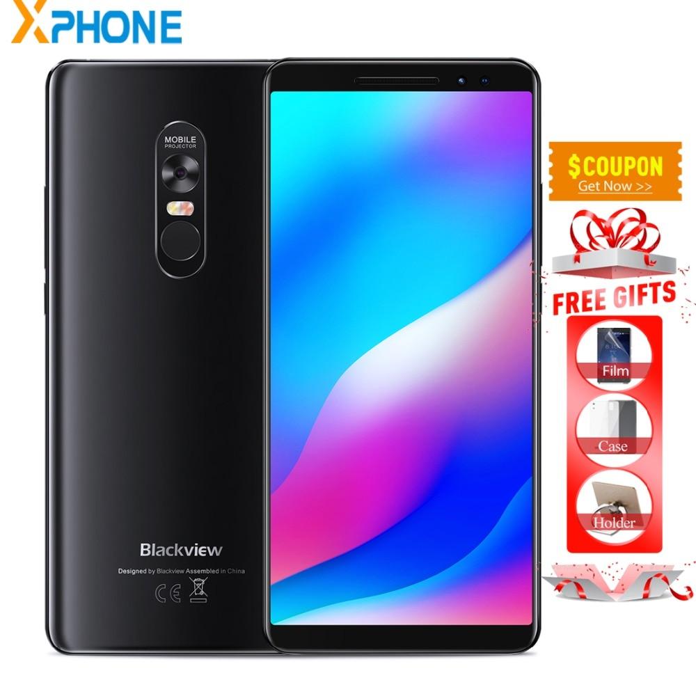 Diplomatisch Blackview Max 1 Projector Telefoon Amoled 4680 Mah Android 8.1 Draagbare Mini Projector 6 Gb 64 Gb 16mp Vingerafdruk Id Smartphone
