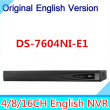 Original Oversea DS-7604NI-E1 NVR Economic NVR for IP Camera CCTV System ONVIF Retail Color Box