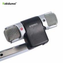 Nowy uniwersalny Mini mikrofon cyfrowy 3.5mm Jack mikrofon stereofoniczny Mic do rejestratora PC Laptop