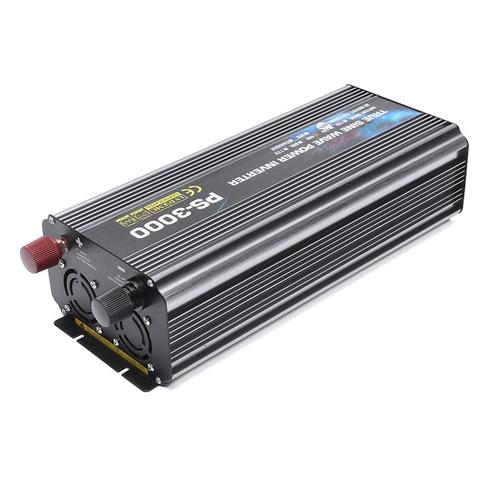 inversor solar inteligente duplo do lcd dc ao inversor puro 12v 24v 48v da potencia
