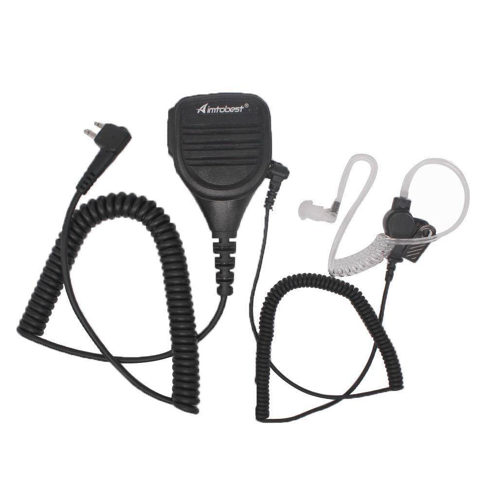 PMMN4013 Microphone With 1Pack 3.5mm Earpiece Listen Only For CP200 PR400 BPR40