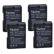 Tectra 4Pcs EN-EL14 EN-EL14a Li-ion Battery for Nikon Coolpix P7000 P7100 P7700 P7800 D3400 D3200 D3400 D5100 D5200 D5300 D5600