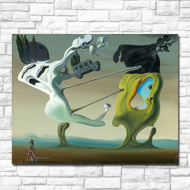 Wxkoil Salvador Dali, Maison Pour Erotomane Painting For Living Room Home Decor Oil Painting Print On Canvas Wall Painting 2