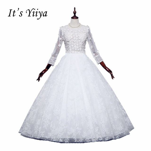 free shipping wedding dresses o neck vestidos de novia off white
