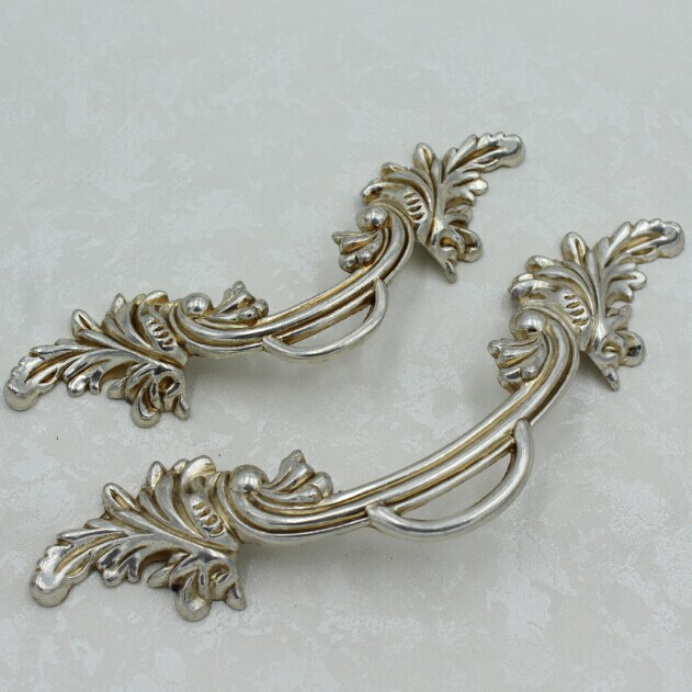 96mm Kitchen Cabinet Pulls Antique Silver Dresser Handles Distress silver cupborad door vintage Furniture Handles Pulls knobs 96mm cabinet handles palace euro style furniture ivory with 24k golden knobs closet door handle drawer pulls bars