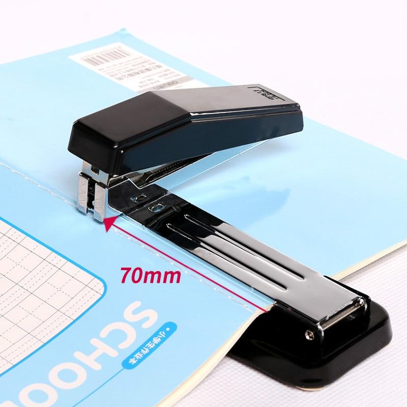 Deli Stapler 360 Degree Rotatable Heavy-Duty Staplers Standard Middle Seam Stapler Stapling 25 Sheets Labor-saving Bookbinding
