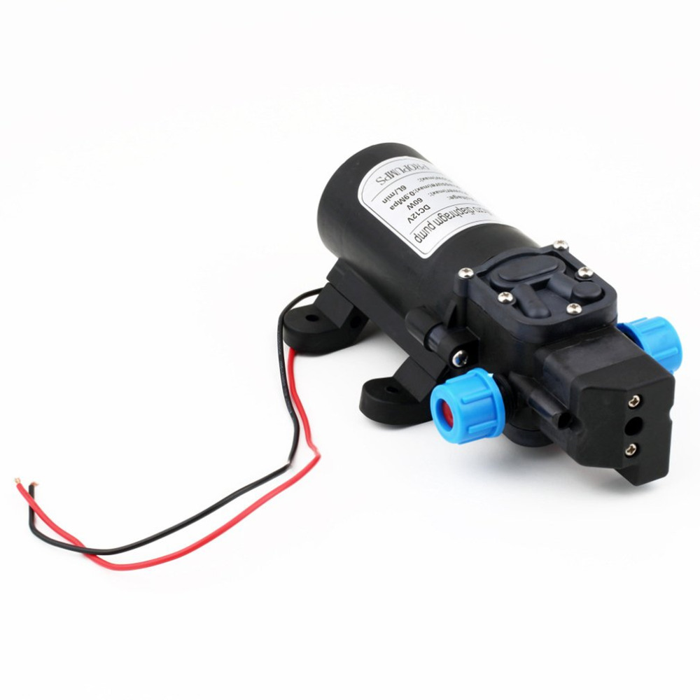12V Durable Diaphragm Water Pump 30W 3L/min Self-Priming Camping Boating Built-in Check Valve Irrigation Watering Tools