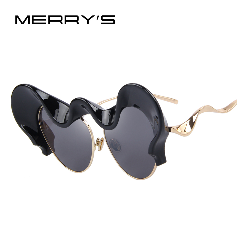 MERRY'S Women Sunglasses Vintage Brand Designer Big Clouds Frame Hyperbole Sunglasses S'8063