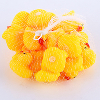 200pcs/lot Baby Bath Toys Floating Rubber Duck Duckie Shower Water Toys for baby Children Birthday Favors Gift free shipping