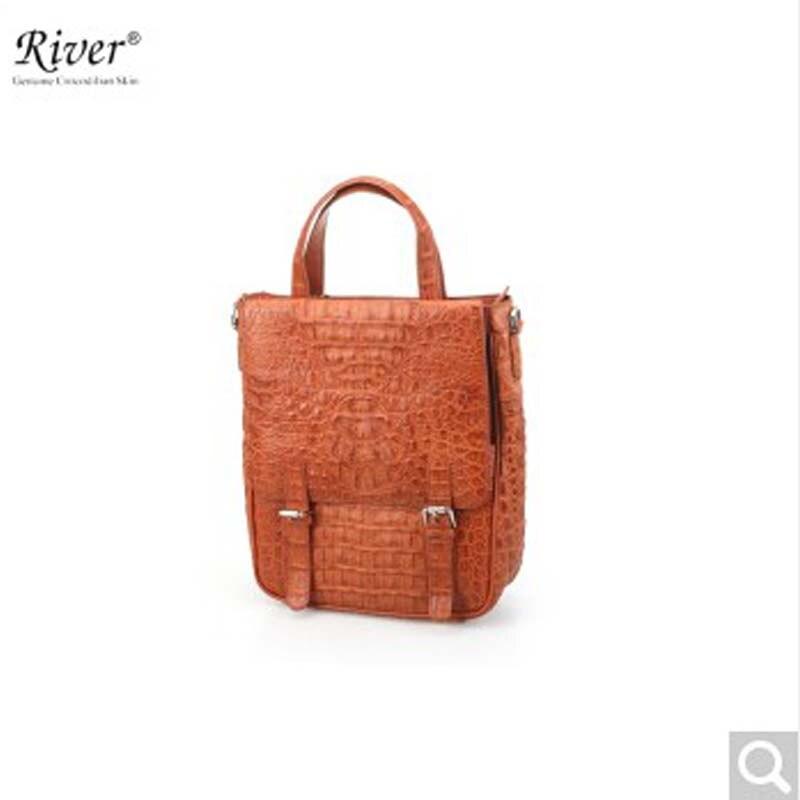 River Thailand Crocodile Leather Men S Handbags Back Skin Head Pike Handbag Vertical Square On Aliexpress Alibaba Group